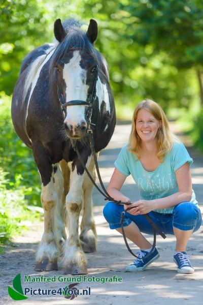 Fotoshoot met paard - Celine met BIlly
